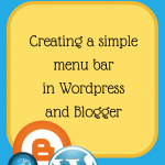 Creating a Menu Bar in WordPress and Blogger
