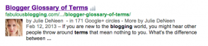 Summaries and Google Authorship