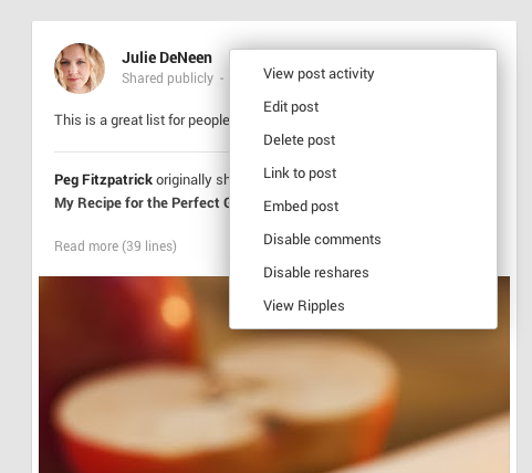 See how you can edit posts after the fact? You can also link to them and embed them into your blog.