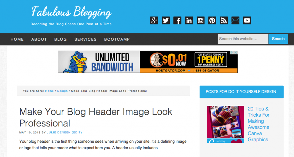 Fabulous Blogging