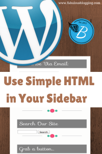 Using Html in your sidebar