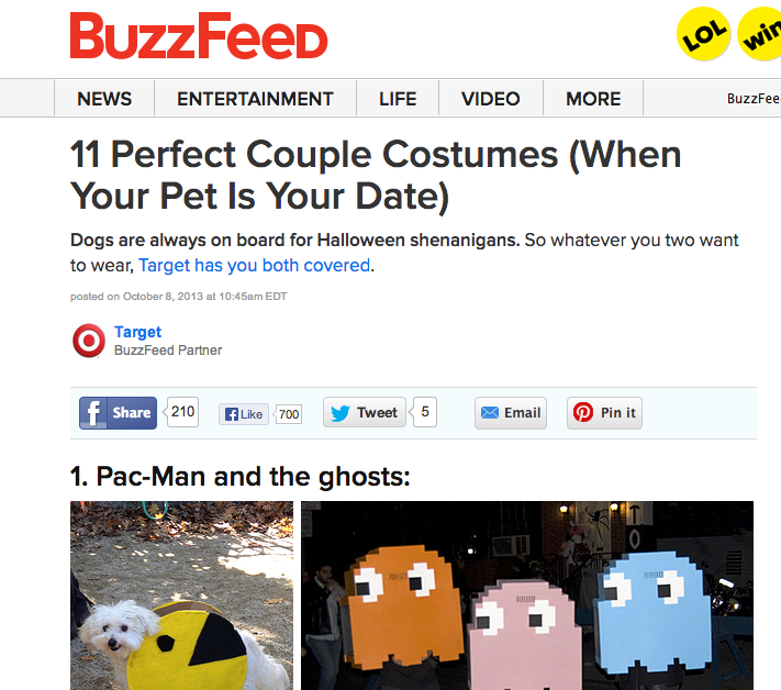 Buzzfeed has PERFECTED the list blog post.