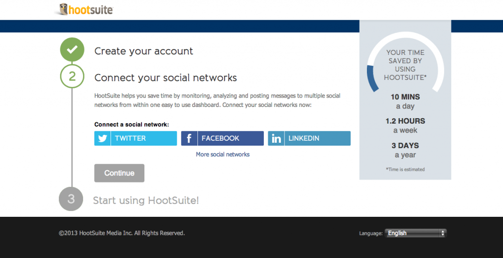 Adding your social profiles to Hootsuite