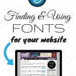 Finding and Using Fonts for Your Website