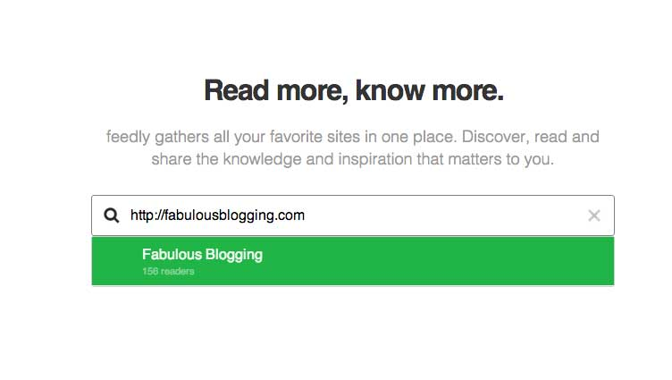 how to add website to feedly